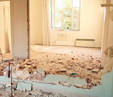 Demolición de tabiques en edificios antiguos